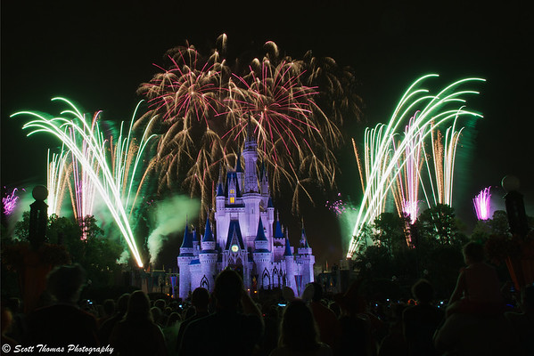 HalloWishes fireworks show at the Magic Kingdom in Walt Disney World, Orlando Florida.