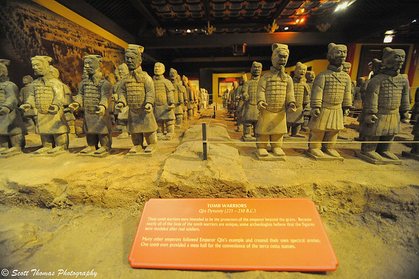 Tomb Warriors, the Guardian Spirits of Ancient China exhibit in Epcot's China pavilion.