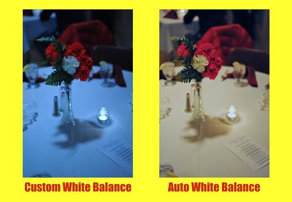 White balance comparison.