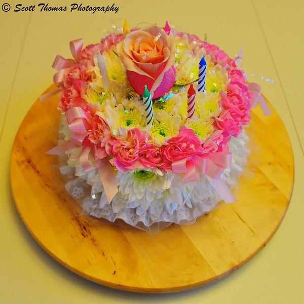 Pastel Flower Birthday Cake.