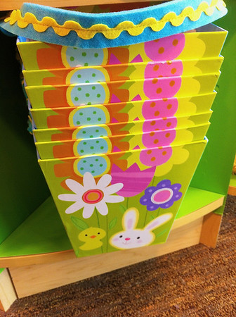 Stacked Easter baskets