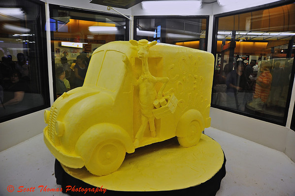 What do you do with a 900 pound block of butter?  You create this years butter sculpture for the Dairy Building.  This is a tradition going back 41 years.