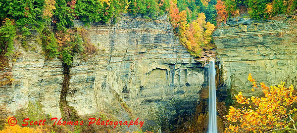Panorama of Taughannock Falls near Ithaca, New York.