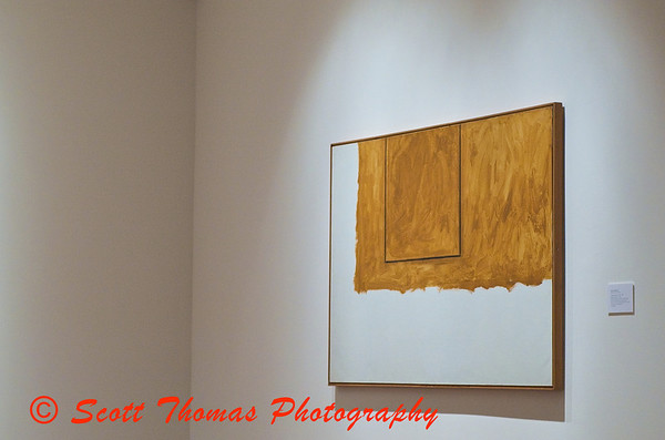 A painting hanging in the Modern Art gallery of the Everson Museum in Syracuse, New York.
