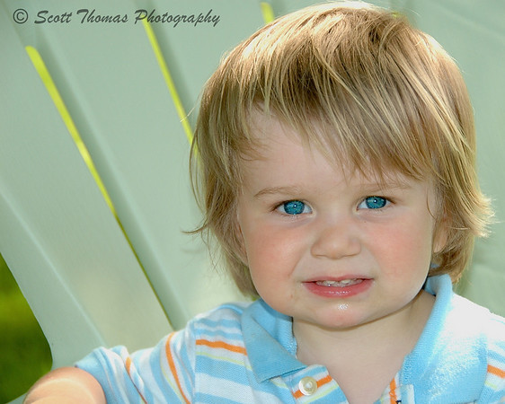 Blue eyed little boy.