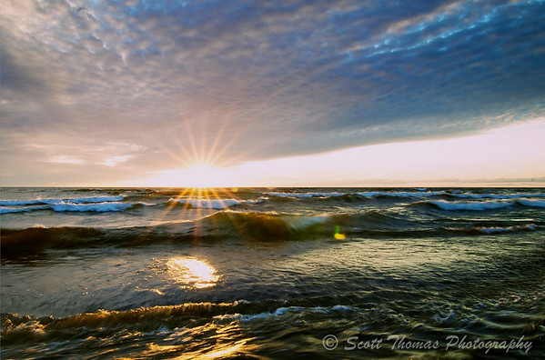 Lake Ontario Sunset 1 using Apple Aperture 3 Preset Color: Cross Process 1