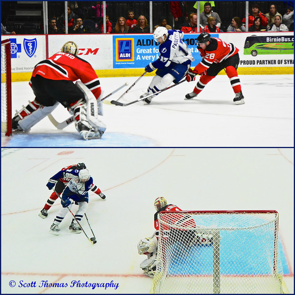 The same ice hockey action taken at the same time using PocketWizard transceivers.