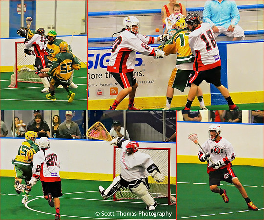 Box Lacrosse is a hard hitting, fast paced and highly skilled team game with as much action as an ice hockey game.