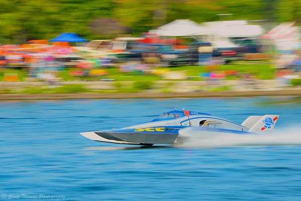 Grand National Hydro (GNH) hydroplane Show Time Racing competing at the  HydroBowl on Seneca Lake in Geneva, New York.