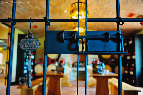 Key to the Wine Cellar tasting room at the Magnus Ridge Winery on the Seneca Lake wine tour in the Finger Lakes region of New York.