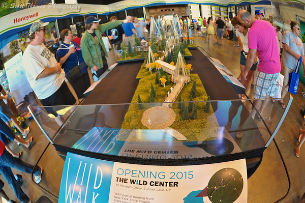 Model of the Wild Walk in the Center of Progress building which will be coming to the Wild Center in Tupper Lake at The Great New York State Fair in Syracuse, New York.