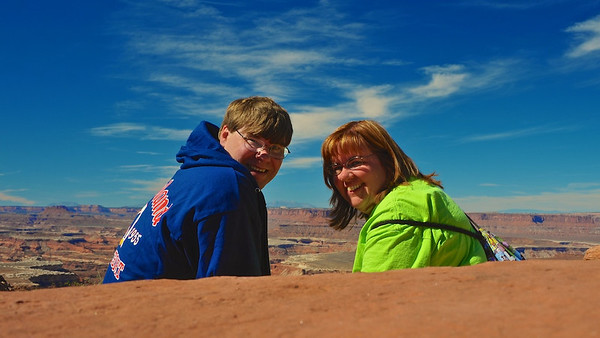 Here we are at Canyonlands National Park last week.