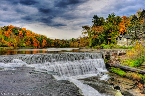 Beebe Dam on the Cornell University campus in Ithaca, New York.