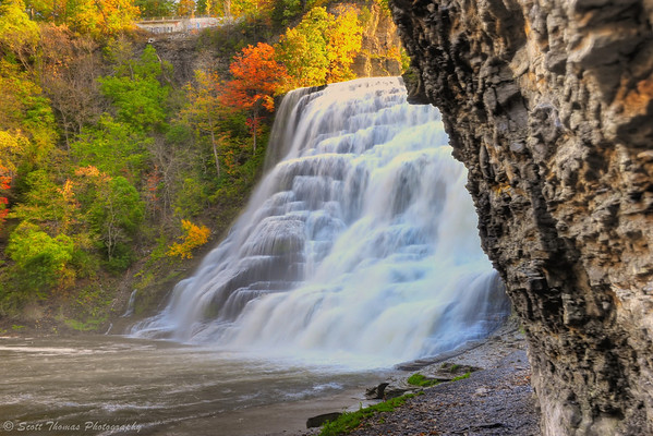 Ithaca Falls in Ithaca, New York.