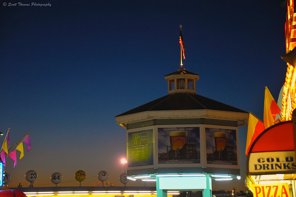 Blue Hour at the Great New York State Fair in Syracuse, New York.