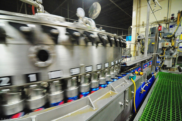 Filler machines fill 1,000 cans per minute.