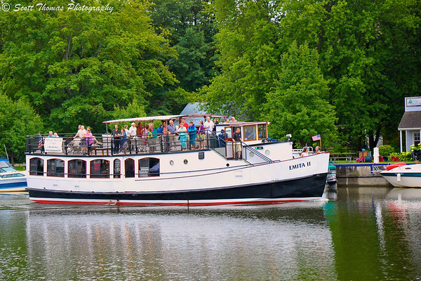The Emita II tour boat hosted the Lunch Cruise during the 2011 C. W. Baker Alumni Weekend on the Seneca River.