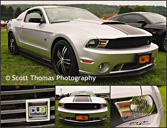 2011 Ingot Silver DUB Edition V6 Roush Mustang at the Broome County Fairgrounds in Whitney Point, New York on Saturday, September 20, 2014.