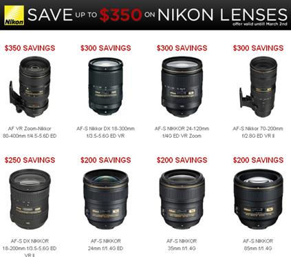 Click here now to see the entire list of Nikon Lenses on Sale!
