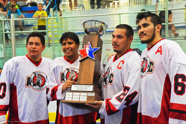 Onondaga Redhawks Captains with the Can-Am Cup.