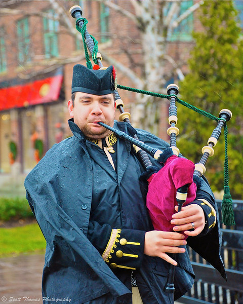 Piper Jack Heins playing a Christmas tune in Skaneateles, New York.