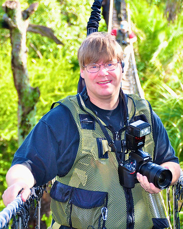 Views Infinitum author and photographer, Scott Thomas, on the Wild Animal Trek in Disney's Animal Kingdom.
