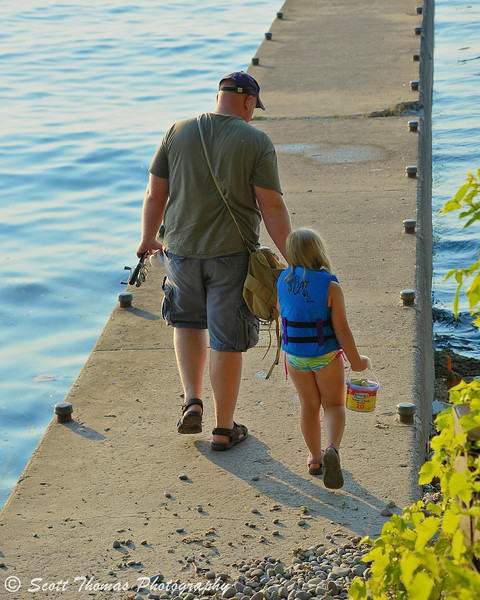 Daughter/Daddy moment at Fair Haven State Park near Oswego, New York.