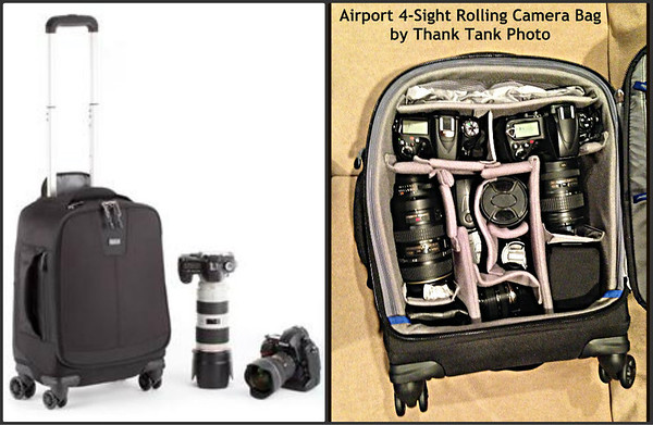 Click Here for more information about the Think Tank Photo Airport 4 Sight Rolling Camera Bag
