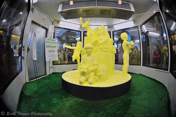 The 45th Annual Butter Sculpture in the Dairy Building of the 2013 Great New York State Fair in Syracuse, New York.