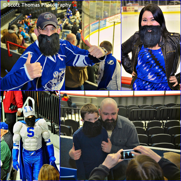 Syracuse Crunch fans at Fear the Beard night.