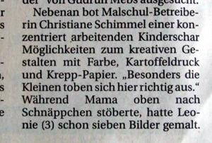 Malschule Mettmann der Künstlerin Christiane Schimmel