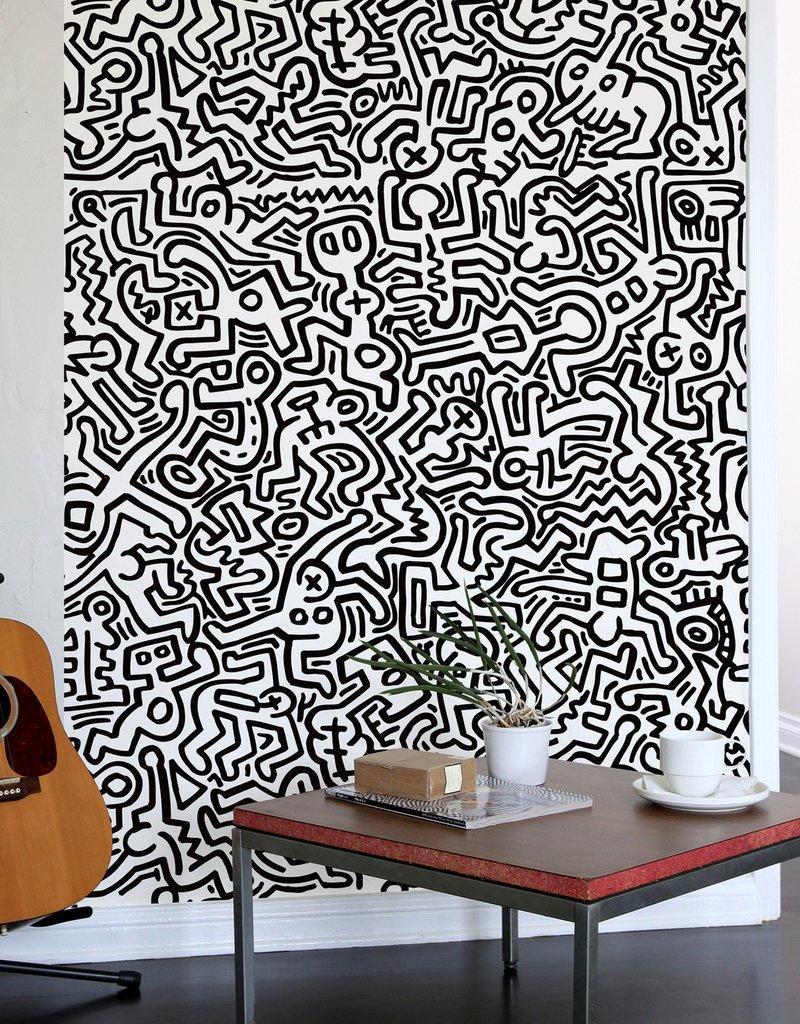 Pisa, facciata laterale della chiesa di sant'antonio abate. Movement Black Giant Wall Murals By Keith Haring Giant Wall Stickers Wall Decals