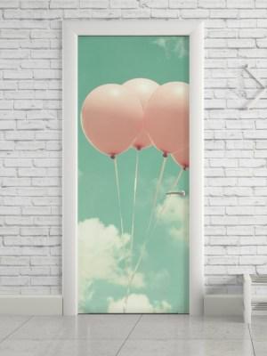 Adesivo de Porta Balões Vintage