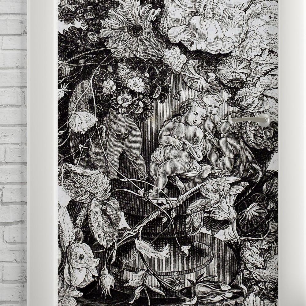 Adesivo de Porta Vintage Anjos