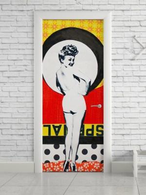 Adesivo de Porta Vintage Betty