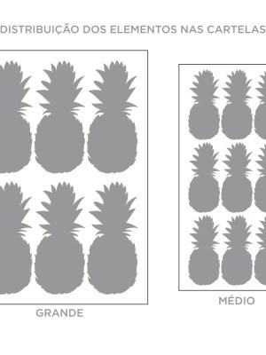 Kit de Adesivos de Parede Abacaxi