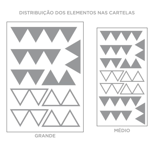 Kit de Adesivos de Parede Conjunto de Triângulos