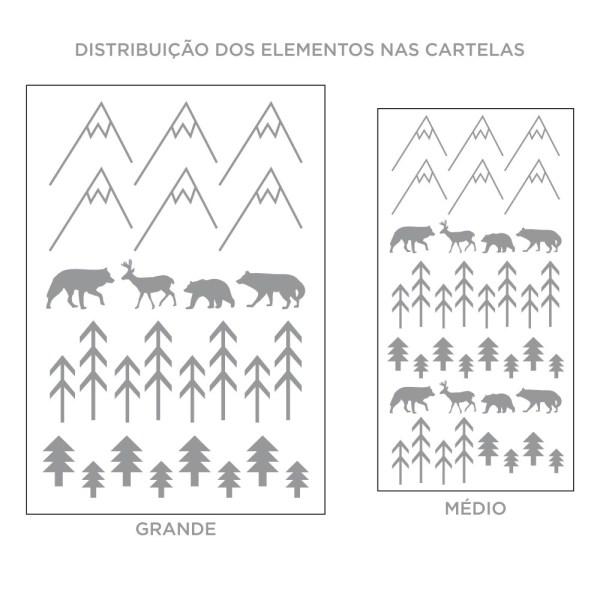 Kit de Adesivos de Parede Floresta