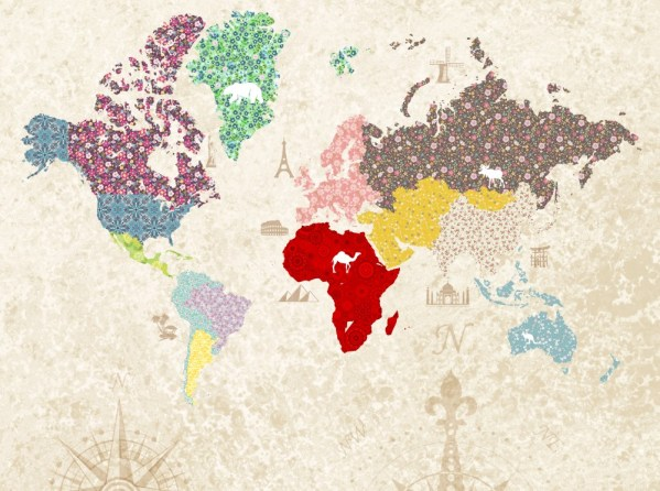 Painel Fotográfico Mapa Patchwork