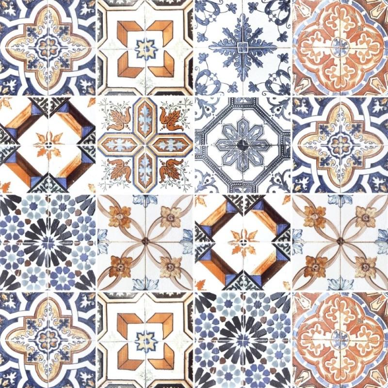 Papel de Parede Adesivo Azulejo Classico Claro