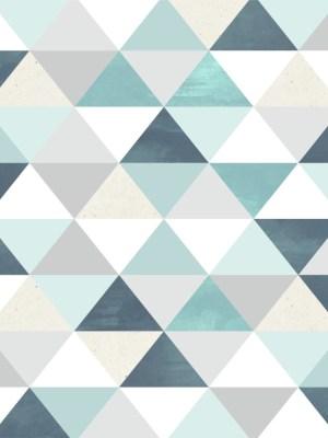 Papel de Parede Adesivo Geométrico Triângulos Azul