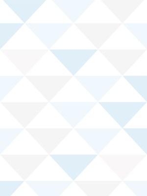 Papel de Parede Adesivo Geométrico Triangulos Tons de Azul