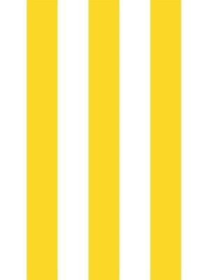 Papel de Parede Adesivo Listras Circo Amarelo