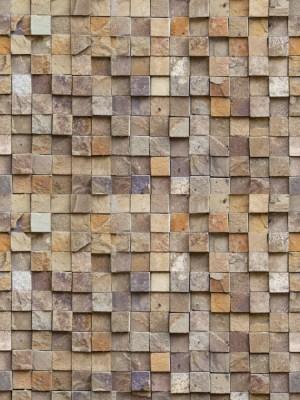 Papel de Parede Adesivo Pedra Canjiquinha Quadrada