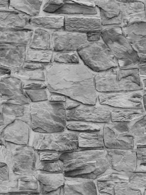 Papel de Parede Adesivo Pedra Cinza