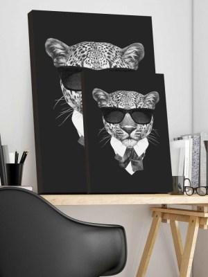 Placa Decorativa Tigre Black