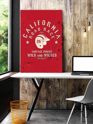Placa Decorativa Vintage Califórnia