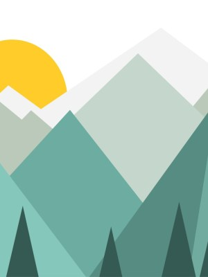 Painel Fotográfico Montanhas Natureza Verde