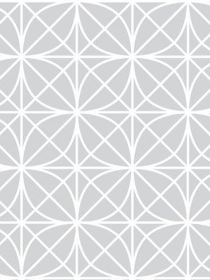 Papel de Parede Adesivo Geométrico Treliça Cinza