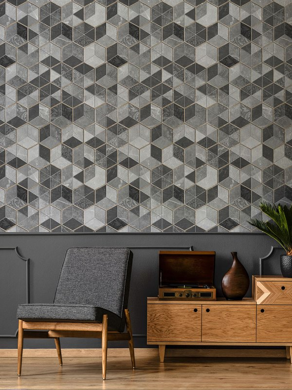 Papel de Parede Adesivo Textura Geométrica